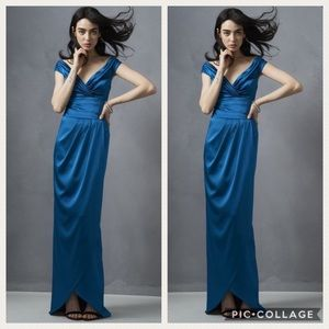 Kay unger long satin gown